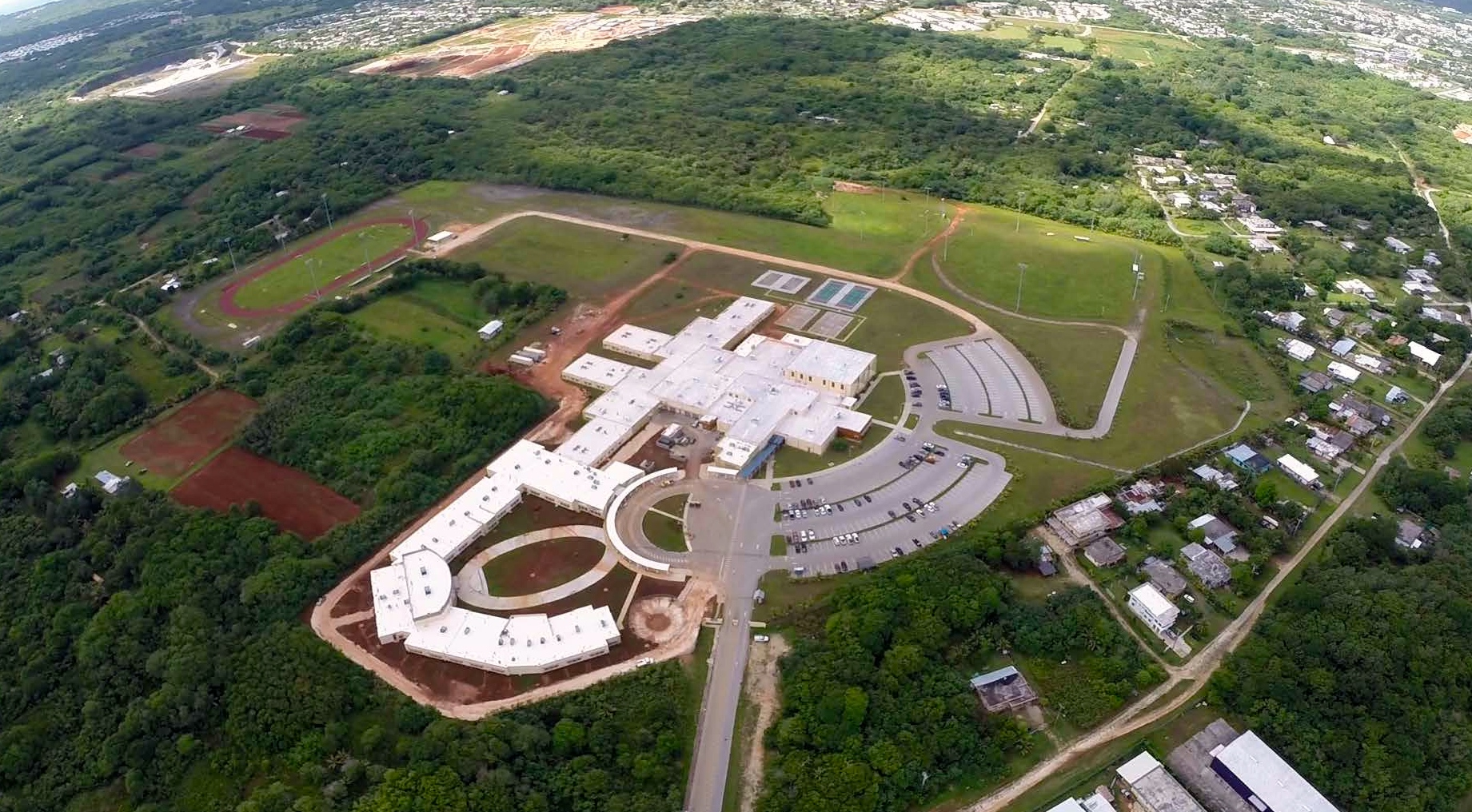 Okkodo High School Aerial